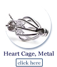 heart shaped cage in base metal