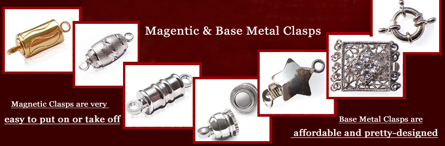 magnetic clasps, base metal clasps