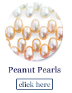 peanut pearl beads strands