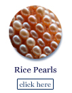 rice pearl beads on strands