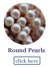 round pearl beads on strands