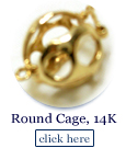 round pearl cage in 14k gold