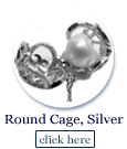 round pearl cage in sterling silver