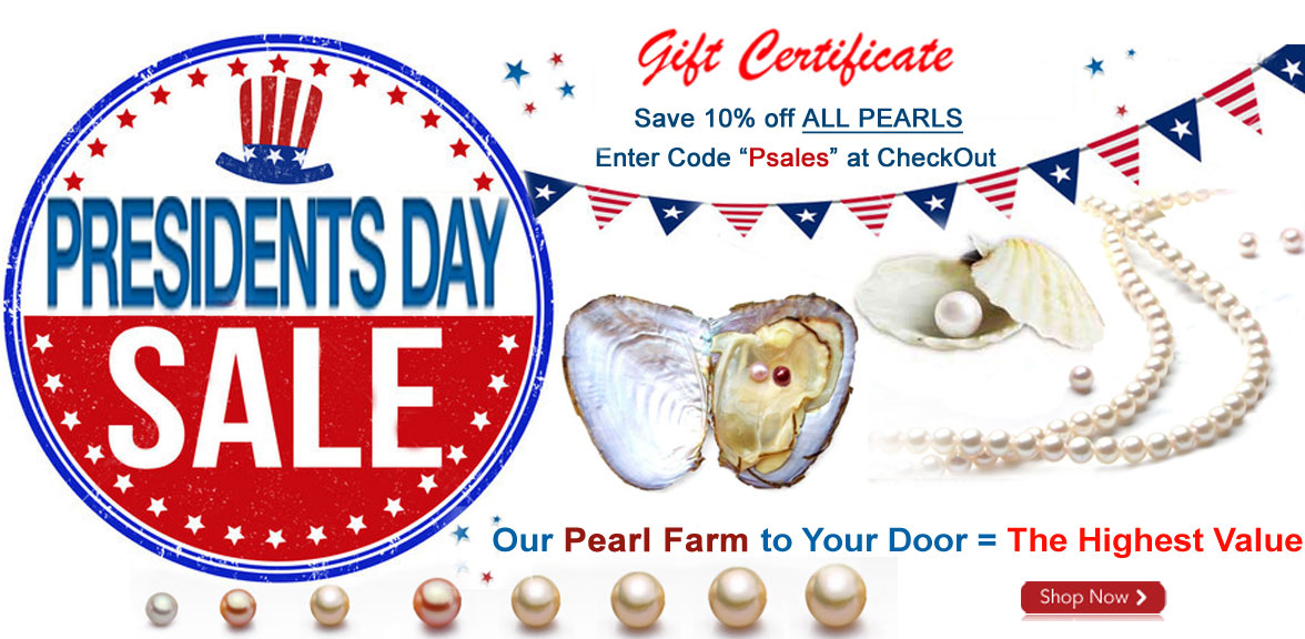 president day pearls sale