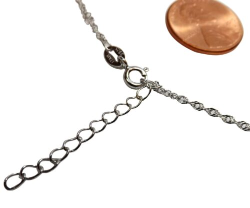 """925SS Spiral Chain with 1.5"""" Extension"""