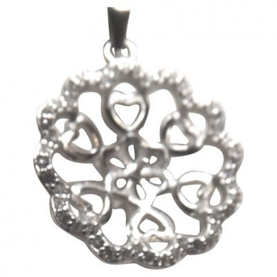 Large Flower Shaped Pearl Pendant Setting 925 Sterling Silver