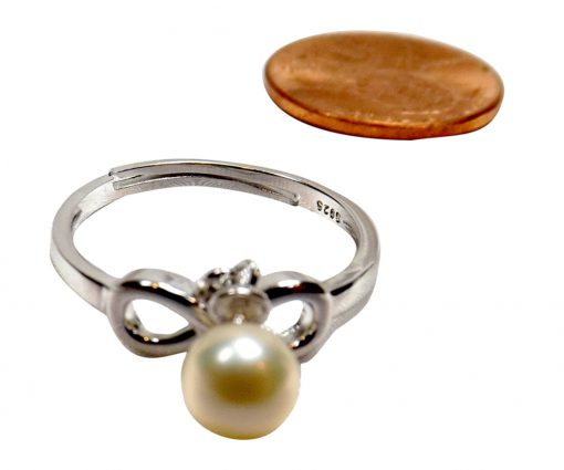 925ss infinity pearl ring