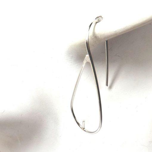 Large Silver Earrings Settings
