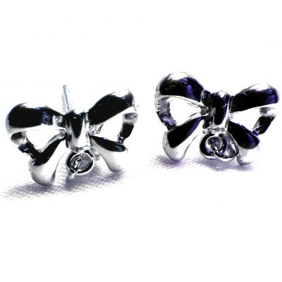 Silver Pearl Earrings Settings