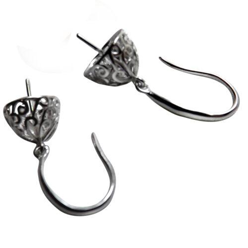 Silver Earrings Settings
