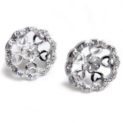 925 silver pearl earring studs settings