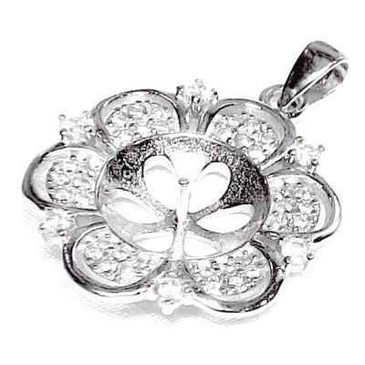 Large Flower Shaped Pendant Setting