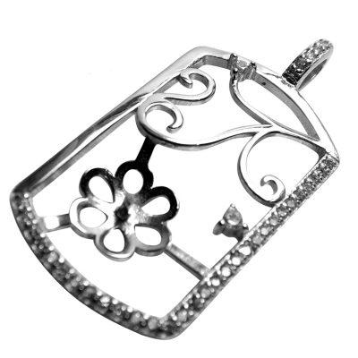 Large 925 Sterling Silver Pearl Pendant Settings