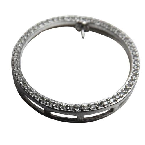 Big Circle Silver Pendant Setting