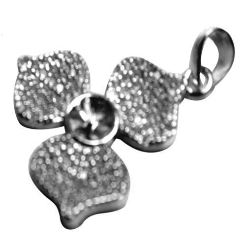 Silver Large and Heavy Flower Shaped Pendant