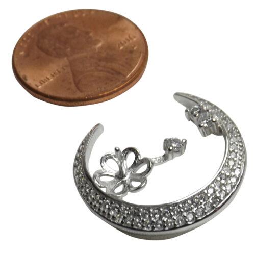 Silver Pearl Pendant Settings