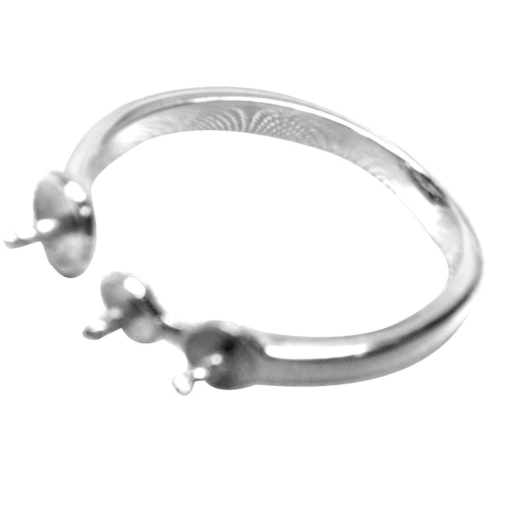 925 sterling silver 3 pearl ring adjustable setting. Black Bedroom Furniture Sets. Home Design Ideas