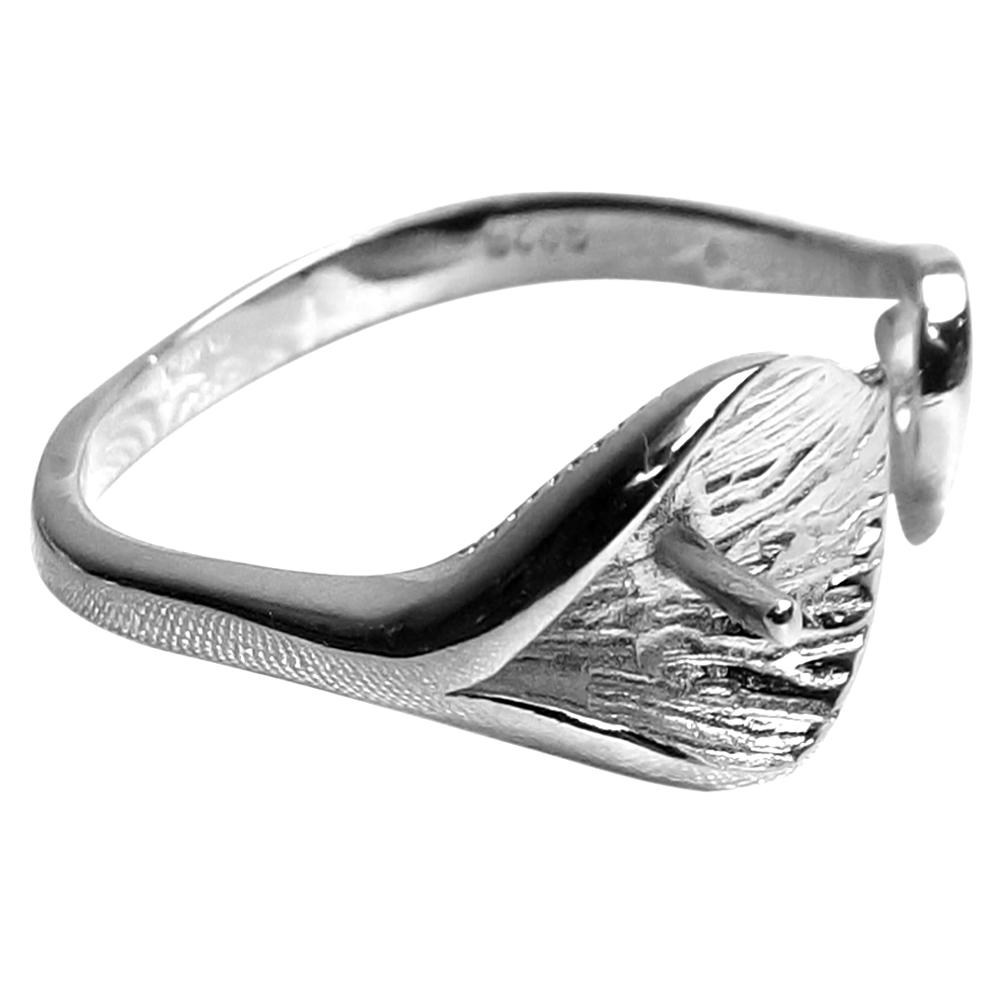925 sterling silver calla lily adjustable ring setting for. Black Bedroom Furniture Sets. Home Design Ideas