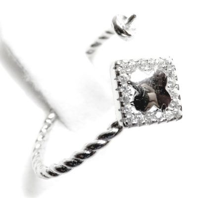 Diamond Silver Rings Settings