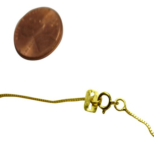 18 inch Long 14K Yellow Gold Box Chain