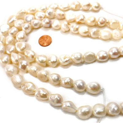 large 14x16 white baroque pearls