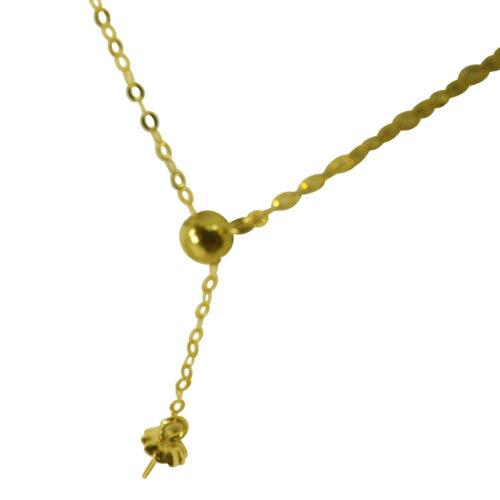 18k White Gold Adjustable length Chain