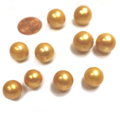 edison golden colored single pearl