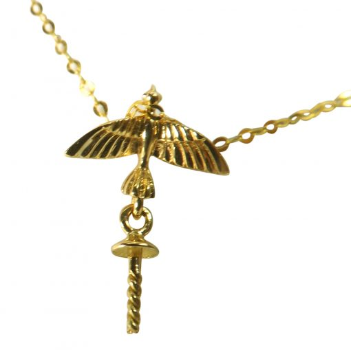 18k yellow gold Eagle pendant