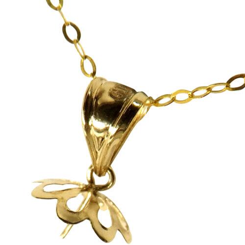 18kyg dangling pearl pendant setting