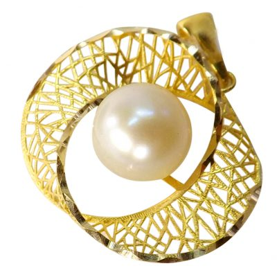 18ky gold pearl pendant