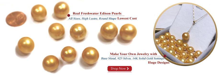 golden colored edison pearls