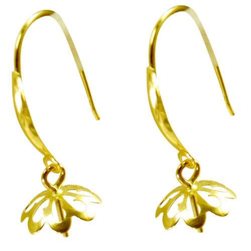18kyg dangling pearl earrings setting