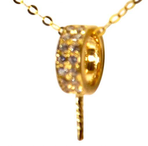 Pearl Diamond Pendant Setting