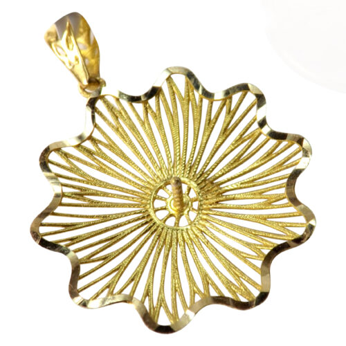 18k yellow gold large pearl pendant setting