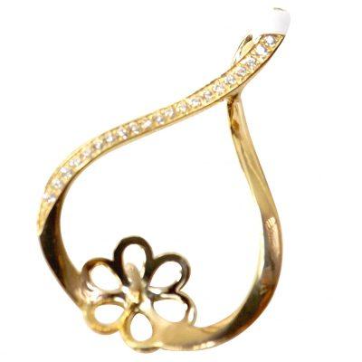 18K Yellow Gold Pearl Pendant Setting