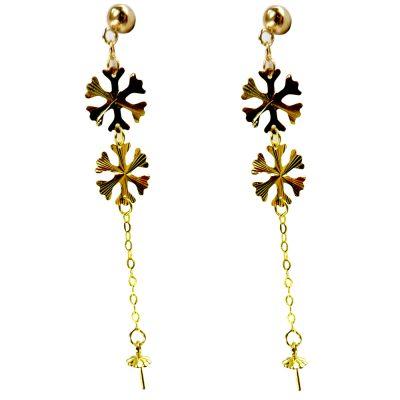 18kyg pearl earrings setting