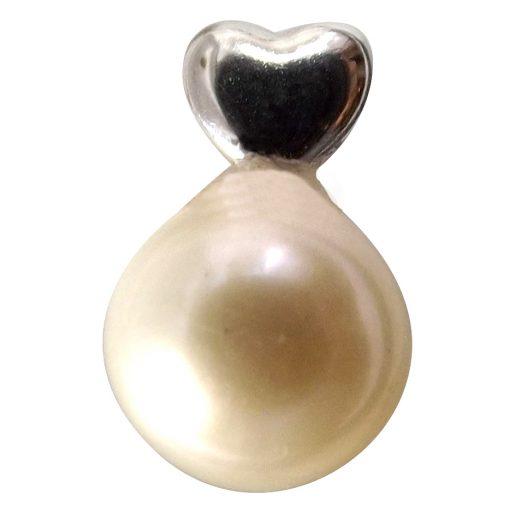18k heart shaped earrings studs