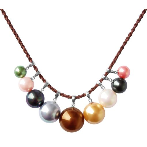 various colored and sized pearl pendant
