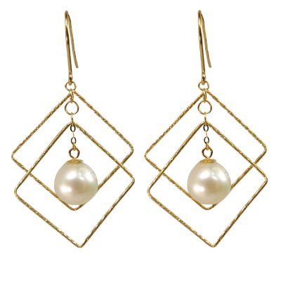 Large Pair of Pearl Earrings