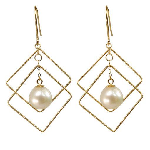 Large Pair of Pearl Earrings