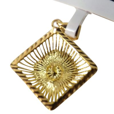 18k yellow gold pendant setting