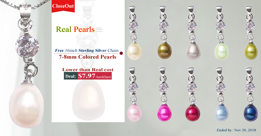 pearl pendants clearance