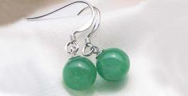 8-9mm Jade Earrings 925 Sterling Silver