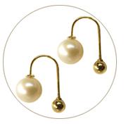 pearl earrings in solid gold