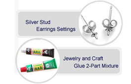 pearl settings and glues