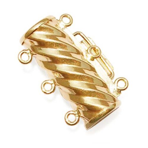 14K Solid Gold Clasps for 3 Rows Pearl Necklace