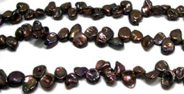 Black Keshi Pearls