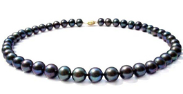 Round Black Pearls