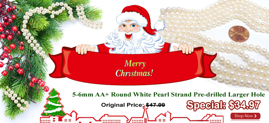 christmas pearl strands on sale
