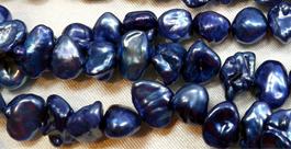 Blue Colored Nice Quality Keshi Pearls